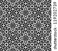 Abstract ornamental seamless pattern background black and white - stock vector