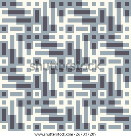 Abstract ornate geometric textured background. Seamless pattern. Vector. - stock vector