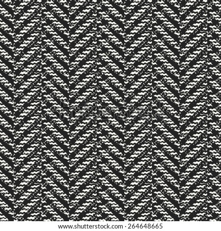 Abstract ornate noisy textured herringbone background. Seamless pattern. Vector. - stock vector