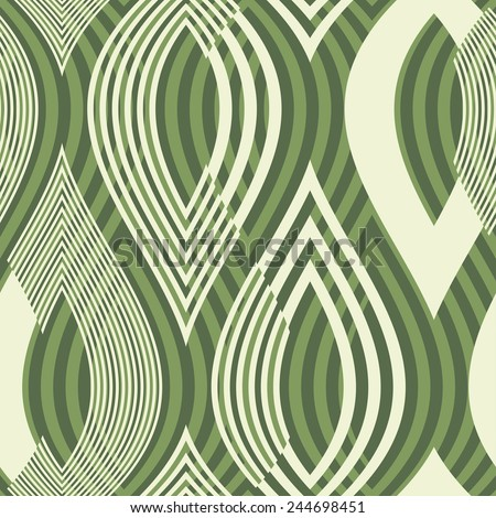 Abstract ornate striped leaves textured background. Seamless pattern. Vector.  - stock vector