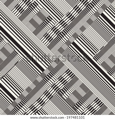 Abstract ornate striped textured background. Seamless pattern. Vector.