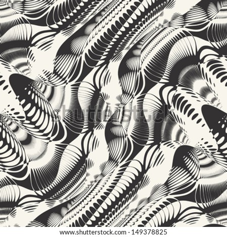 Abstract ornate textured geometric seamless pattern. Vector. - stock vector