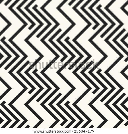 Abstract ornate zigzag elements striped textured background. Seamless pattern. Vector. - stock vector