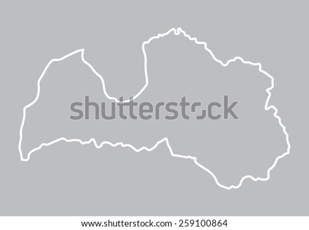 Abstract Outline Latvia Map Stock Vector Shutterstock - Latvia map outline