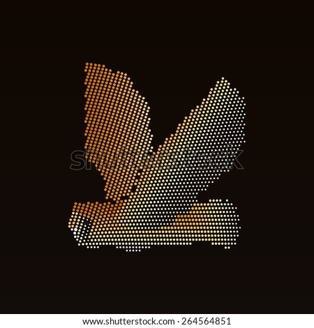 Abstract owl of circles - stock vector