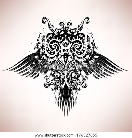 Abstract owl vector illustration - stock vector