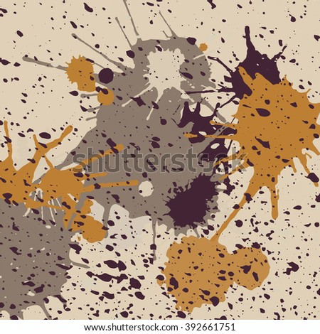 Abstract paint splashes. Colorful background. Vector illustration.