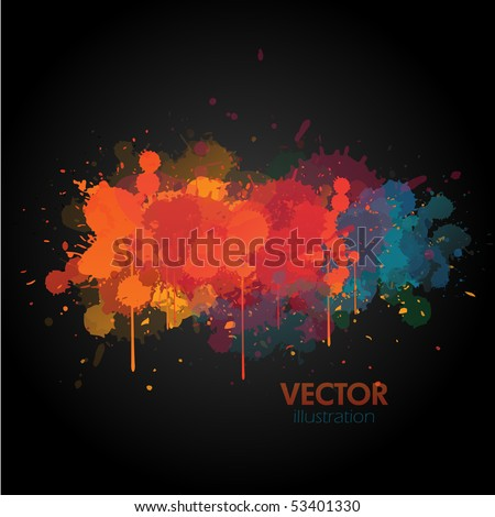Abstract paint splat background - stock vector