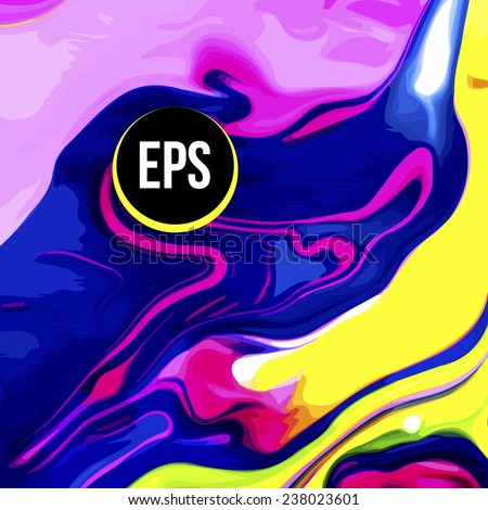 Abstract paint swirl background - stock vector