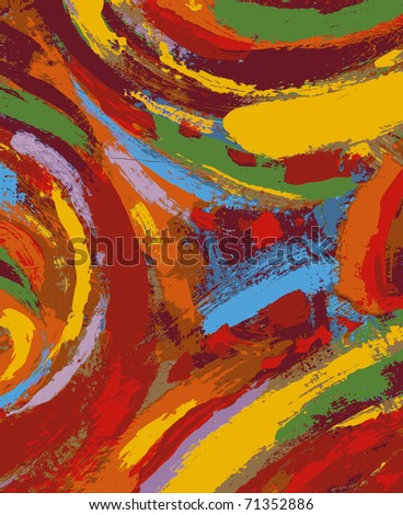 abstract painting background illustration - stock vector