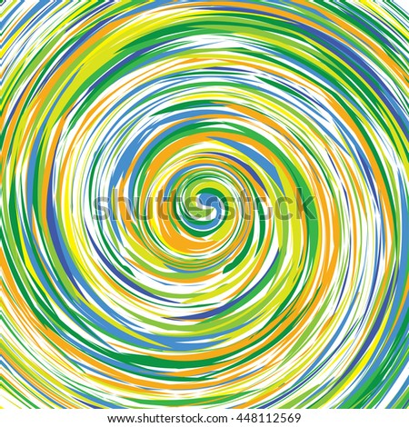 abstract painting in a color vortex - stock vector