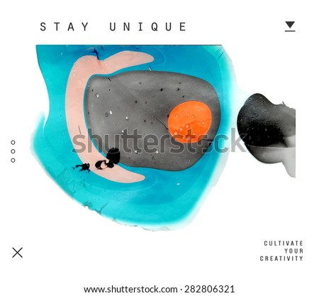 Abstract painting template. Handmade texture  - stock vector