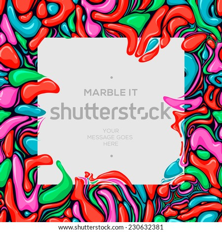 Abstract painting template. Handmade texture marble technique, vector illustration.  - stock vector