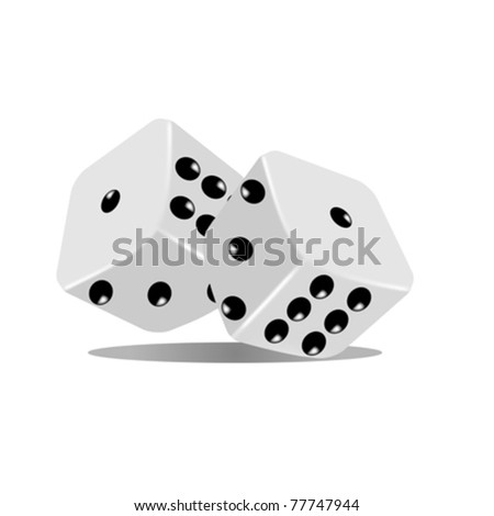 Abstract pair of dices an white background - stock vector