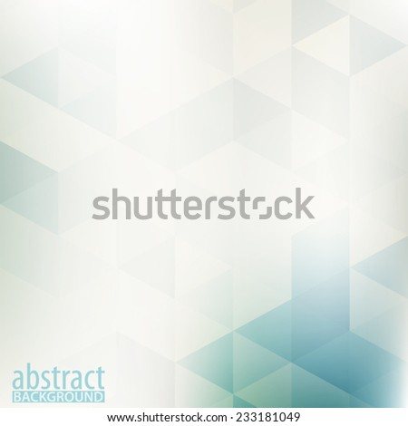 Abstract pale geometric pattern with triangles. Vector - stock vector