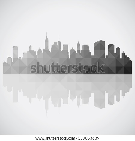 Abstract panorama city background - stock vector