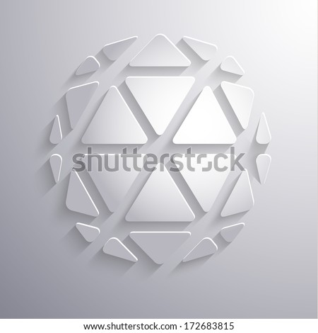 Abstract paper 3d icon on gray background - eps10 - stock vector