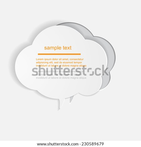 Abstract Paper Graphics / speech bubbles / vector illustration.