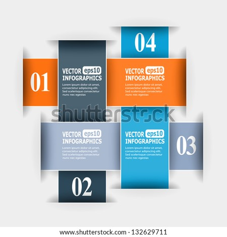 Abstract paper infografics. Vector eps10 illustration