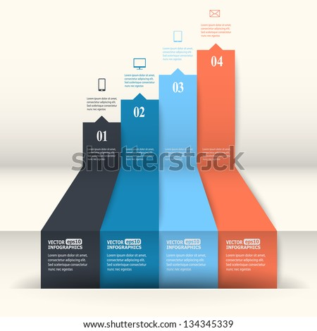 Abstract paper infografics. Vector eps10 illustration - stock vector