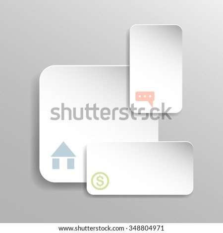 Abstract paper infographic - stock vector