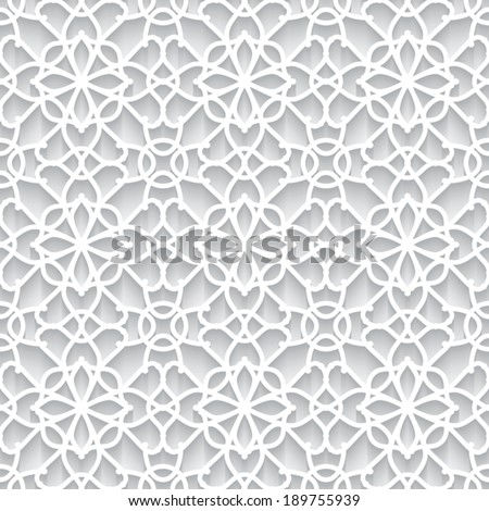 Abstract paper lace texture, vector seamless pattern, eps10 - stock vector