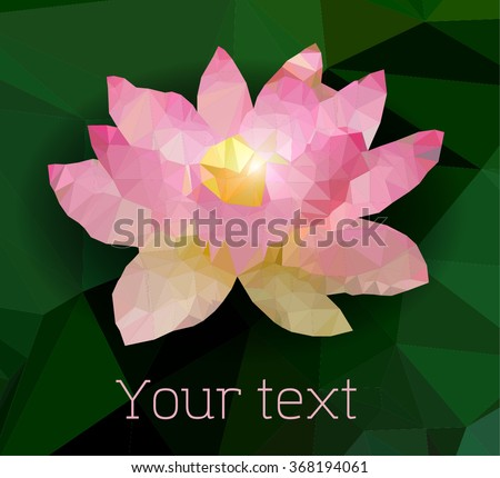 Abstract paper lotus flower low poly stock vector 368194061 abstract paper lotus flower low poly vector mightylinksfo