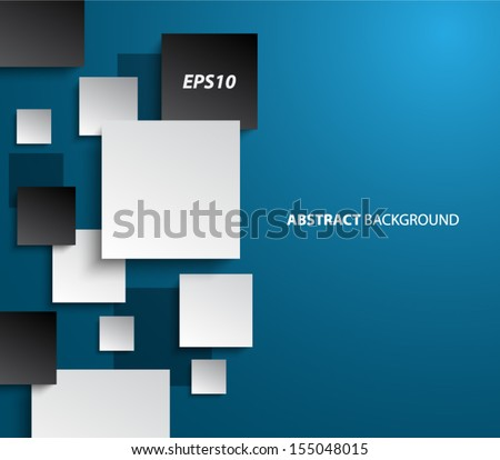 Abstract paper squares panel / banners background design for websites or business