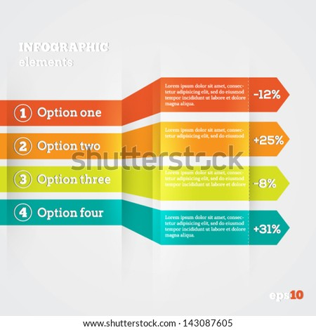 Abstract paper template for infografics - stock vector