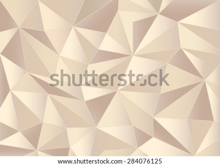 Abstract paper triangles background - stock vector