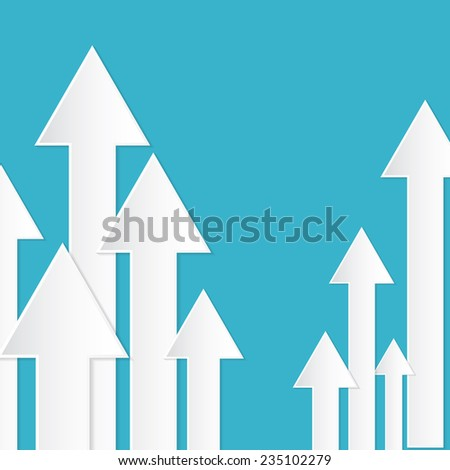 Abstract Paper Vector Arrows on Blue Background
