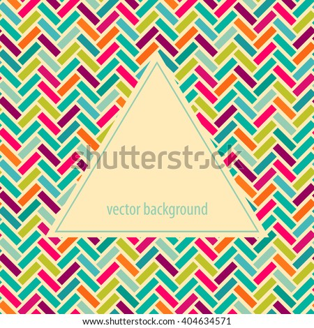 Abstract parquet background. Seamless pattern.Geometric background. Frame for logo, label or greetings. - stock vector