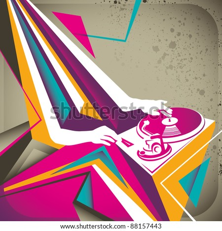 Abstract party background. Vector illustration. - stock vector