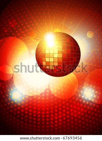 abstract party disco background design - stock vector