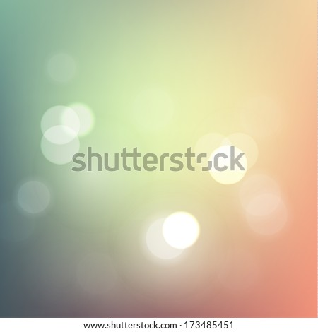 Abstract pastel defocused lights background - eps10 vector - stock vector
