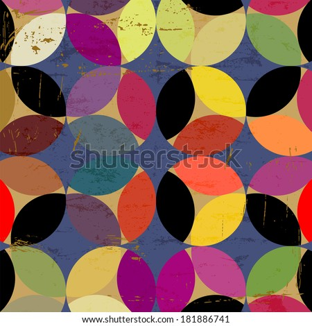 abstract pattern background, modern style, with circles, grungy - stock vector