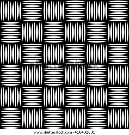 Abstract pattern, background with edgy lines. Monochrome geometric background, texture. Editable vector.