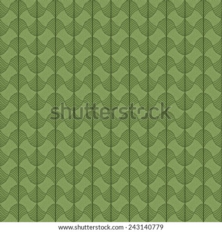 Abstract pattern based on a Traditional African Ornament. Green colors. Seamless vector pattern. Stylized papyrus leaves. Simple pattern for wallpaper, web page background, surface textures. - stock vector