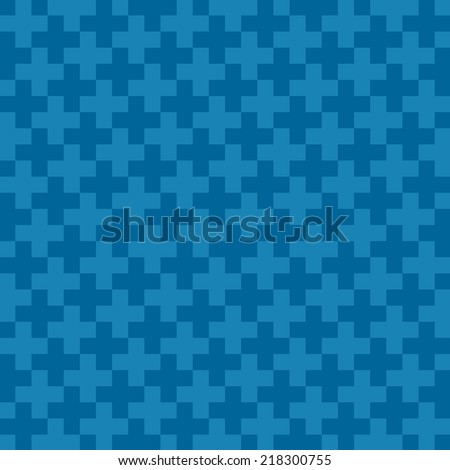 Abstract pattern blue cross background, Vector - stock vector