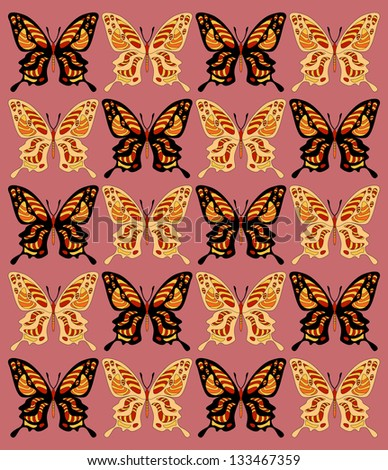 Abstract pattern. Butterfly background.
