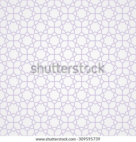 Abstract pattern in Arabian style. Seamless background.  - stock vector