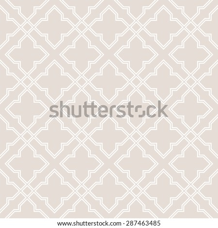 Abstract pattern in Arabian style. Seamless background. Beige and white texture. - stock vector