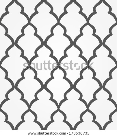 Abstract pattern in Arabian style. Seamless vector background. Black and white texture - stock vector
