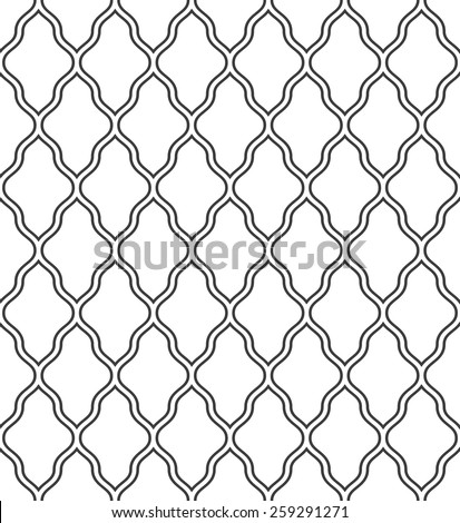 Abstract pattern in Arabian style. Seamless vector background. Gray and white ornament. - stock vector
