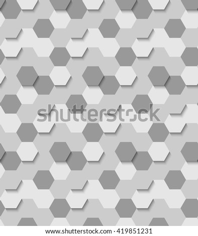 Abstract pattern of hexagons. - stock vector