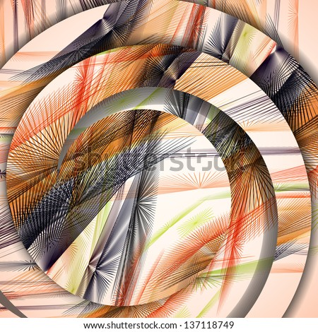Abstract pattern of lines, colorful digital illustration. - stock vector