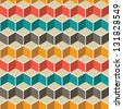Abstract pattern.Seamless geometric wallpaper background..Vector illustration. - stock photo