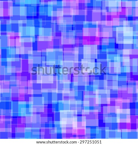 Abstract pattern Seamless geometric wallpaper background Vector illustration blue - stock vector