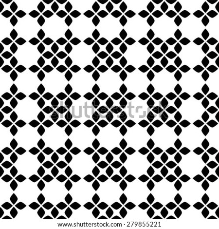Abstract pattern. Seamless vector background. Black and white texture. - stock vector