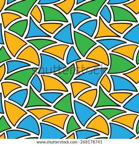 abstract pattern. vector seamless pattern with hand drawn mosaic